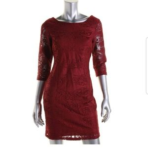 Trixxi Red Lace Dress